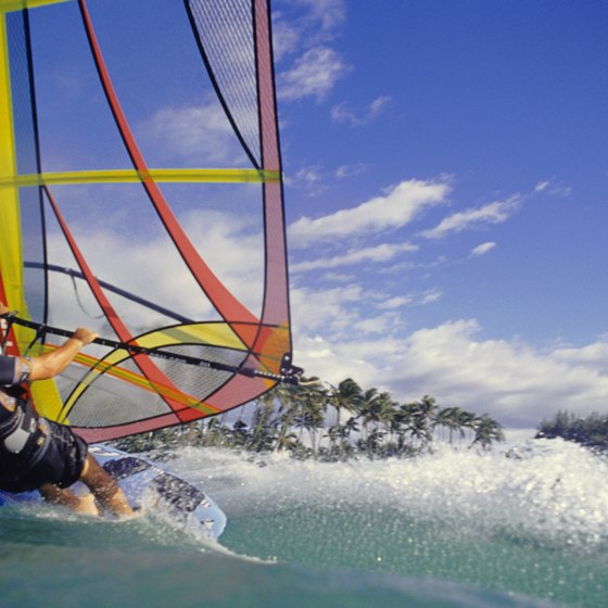 Windsurfing is popular throughout the region.
