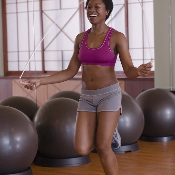 Jumping rope is an option for cardio.
