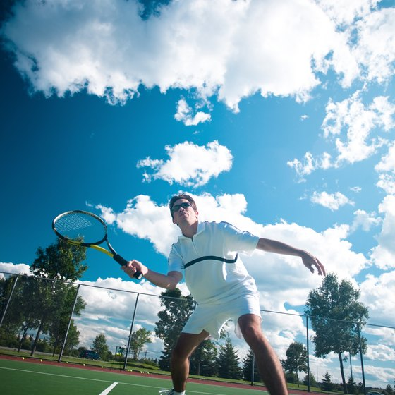 Tennis sunglasses help keep your focus on the game -- not your vision.