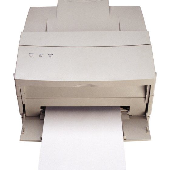 Laser printers can melt some papers.
