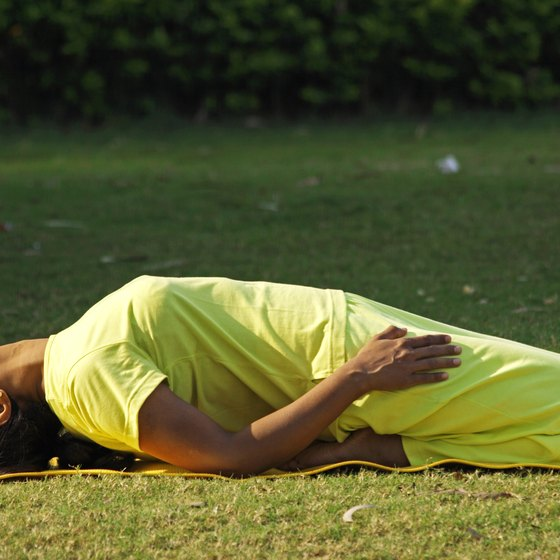 Supta Virasana requires flexibility and is not for the novice.