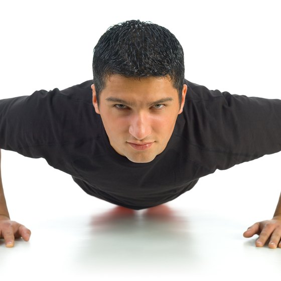 Pushups strengthen your chest muscles.