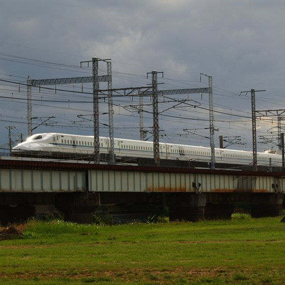 The Japanese Shinkansen train system, better known as the bullet train, spans two islands.