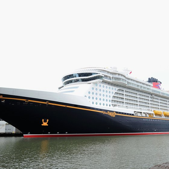 Disney Cruise ships all have a classic 1930s ocean-liner theme.