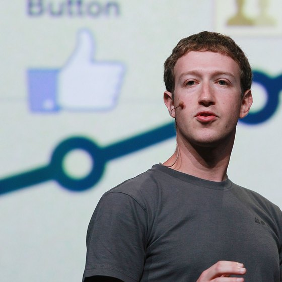 Facebook founder Mark Zuckerberg talks about the site at a conference in San Francisco.