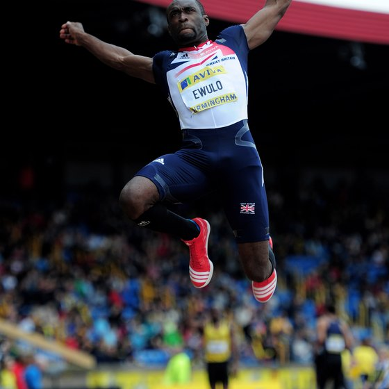 Long jump competitors need excellent acceleration and power.