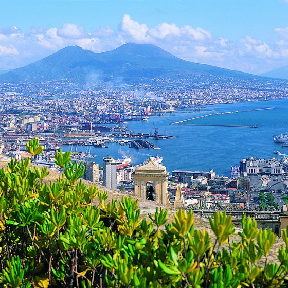 Mount Vesuvius overlooks present-day Naples.