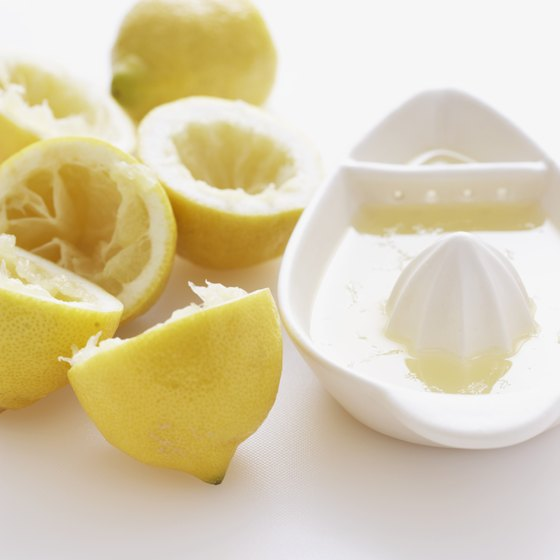 Lemon juice contains vitamins and antioxidants.
