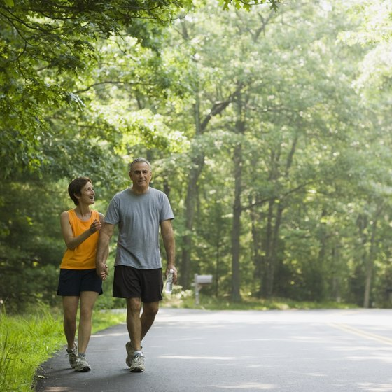 Walking is a simple way to improve weight control.