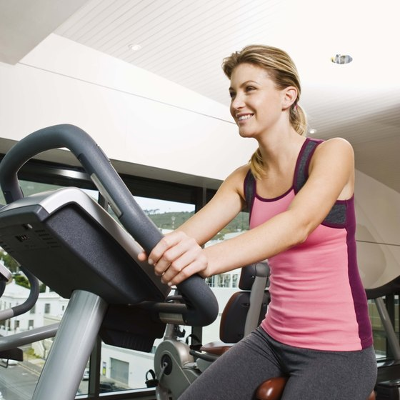 Exercise bikes are available for home or gym use.
