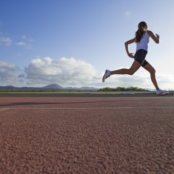 Sprints on a track or up a hill build your speed and strength.
