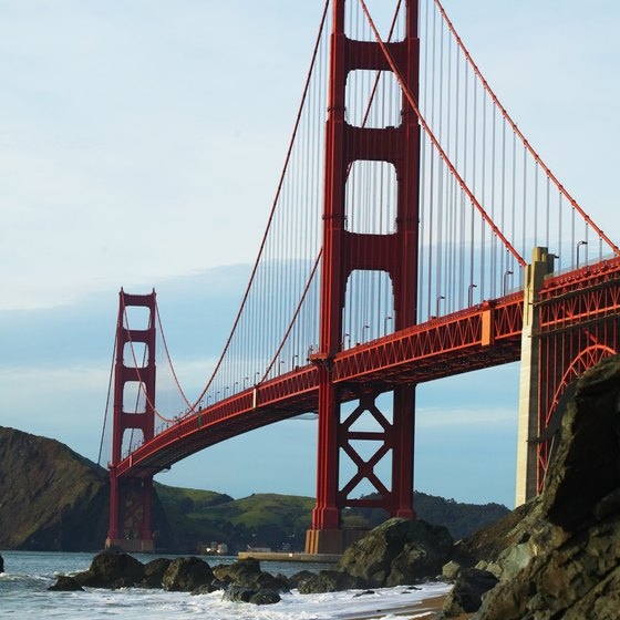 Find the best way to cross the Golden Gate and make a flight at SFO.
