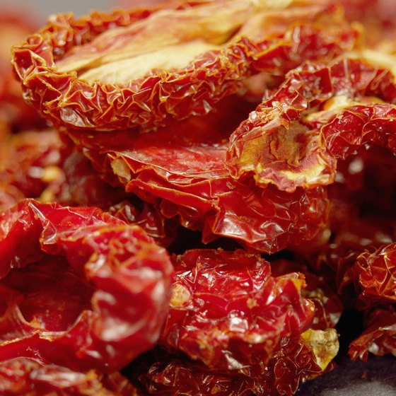 Sun-dried tomatoes provide protein, vitamin A and vitamin K.
