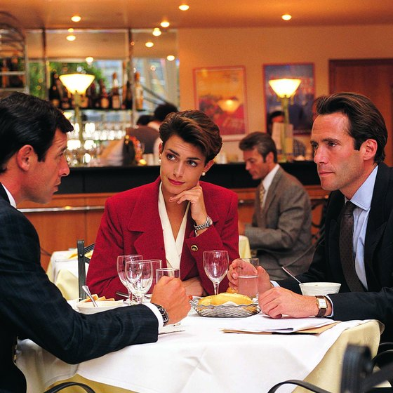 Businesspeople tend to frequent upscale steakhouses in urban centers.