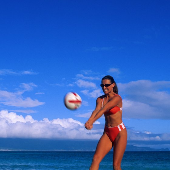 Play sand volleyball along Racine's beaches.