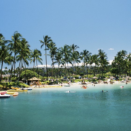 The tropical paradise of Hawaii attracts countless tourists.