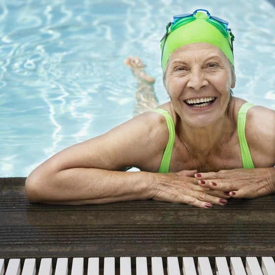 Swimming is a low-impact form of exercise that benefits older people.