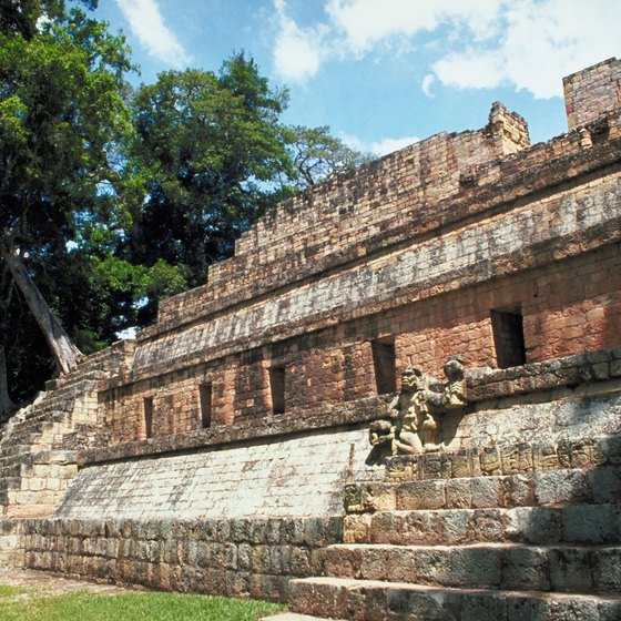 The Mayan city of Copan is famous for its ornate palaces and rock carvings.