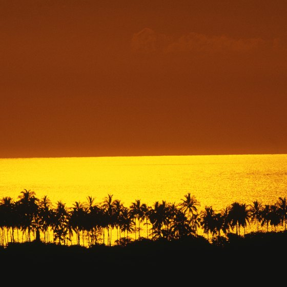 Reflections of the Big Island's active volcanoes help to create dramatic sunsets.