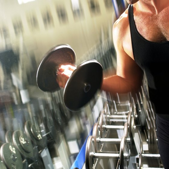 Dumbbell bicep curls are an excellent way to build muscle.