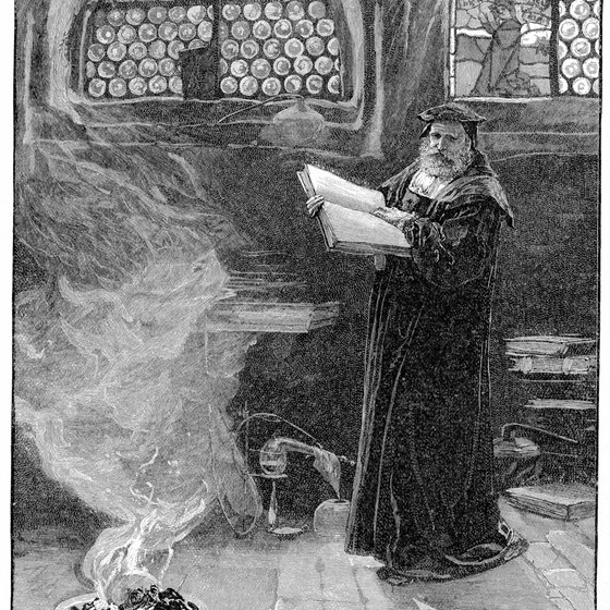 "German writer Goethe wrote the tragic play ""Faust,"" about a deal with the devil."
