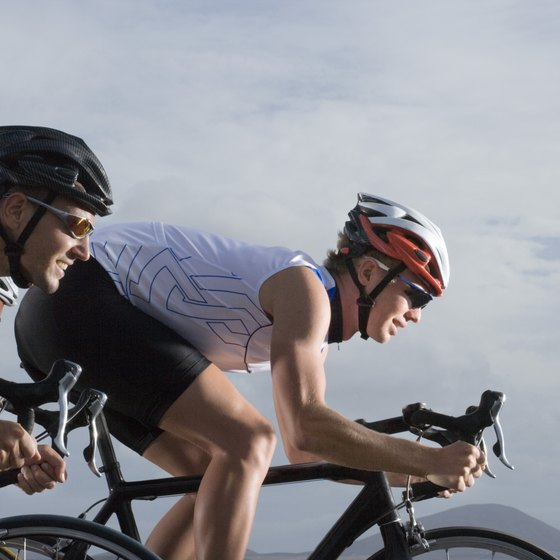 Simple exercises help relieve neck and shoulder tension from a cyclist's forward position.
