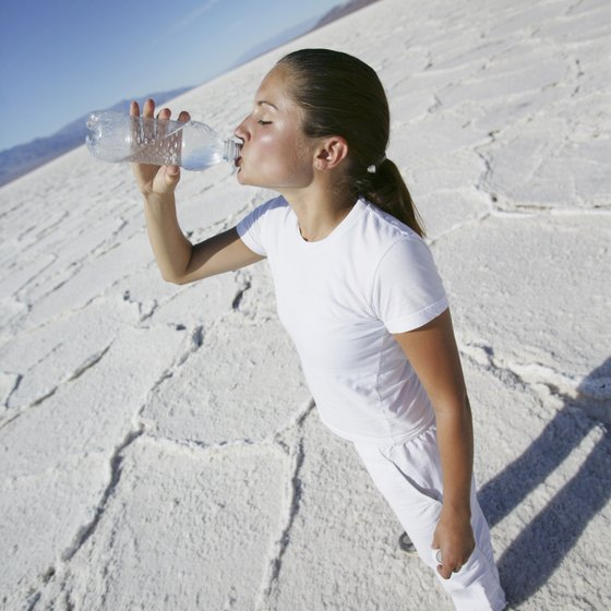 Water and sunscreen are must-haves when camping near the Bonneville Salt Flats.