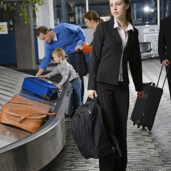Laptop backpacks help business travelers move smoothly through the terminal.