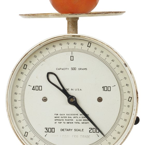 A food scale is an important tool for dieters.