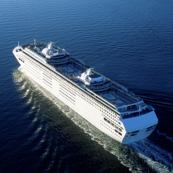 Royal Caribbean cruise line operates transatlantic crossings at certain times of year.
