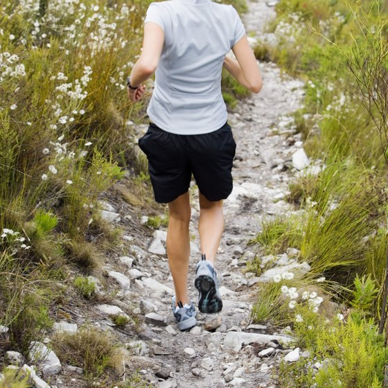 Running downhill won't provide the same calorie burn as a flat surface.
