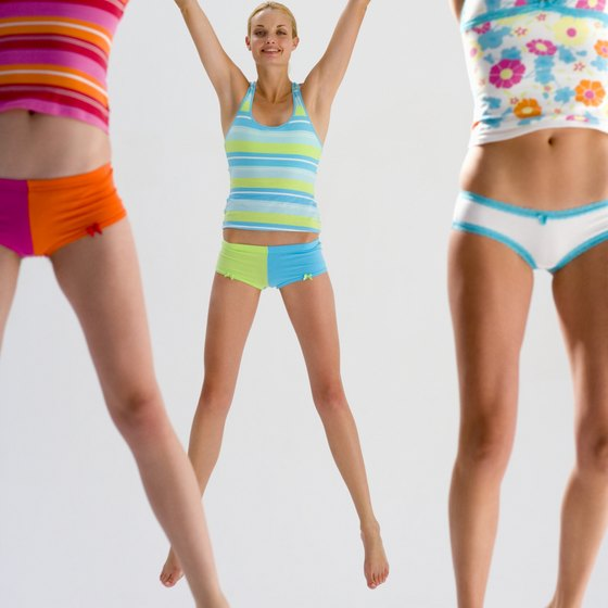 Jumping jacks burn calories and give you a full-body workout.