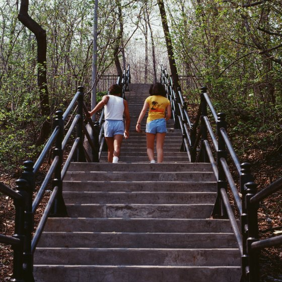 If you don't have access to an outdoor set of stairs, use a stepmill.