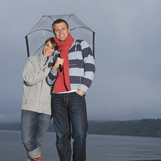 Wellies are often appropriate attire on Britain's drizzly northern beaches.