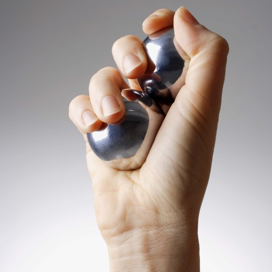 Chinese exercise balls hit pressure points in your hand, helping to relieve stress.