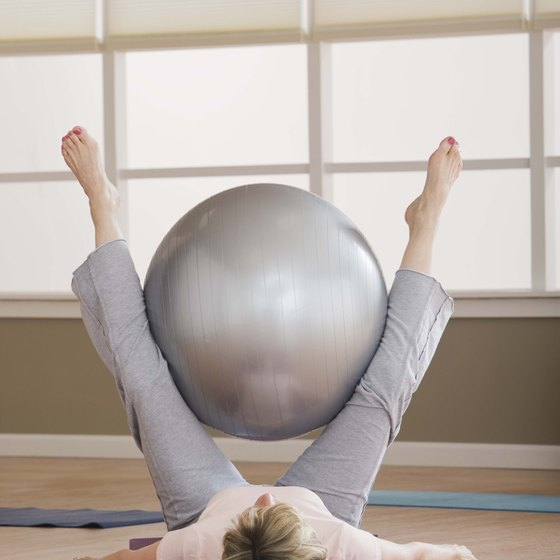 An exercise ball can help strengthen and tone your inner thighs.