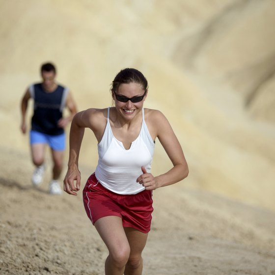 Running up an incline is an excellent workout for your lower body.
