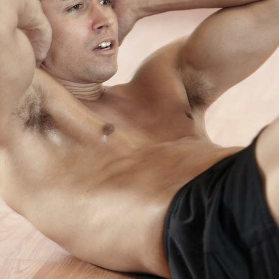 Crunches can help you build lower abdominal muscles.