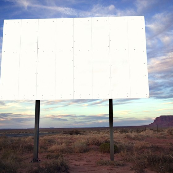 A standard static billboard message is 14 feet tall by 48 feet wide.