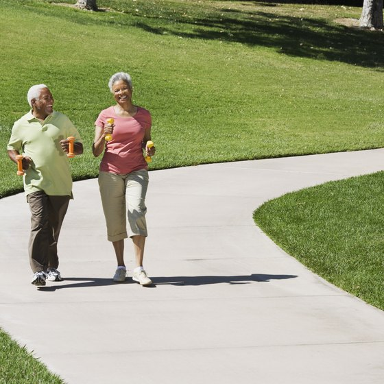 A brisk half-hour walk provides a daily cardiovascular workout.