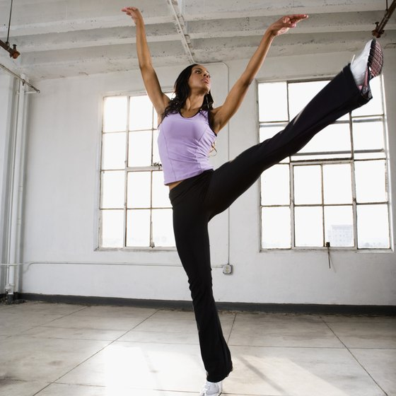 Learn to kick in a controlled and graceful manner by stretching.
