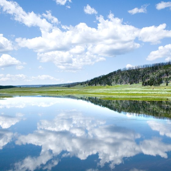 Yellowstone Lake is one of the world's biggest high-elevation lakes.