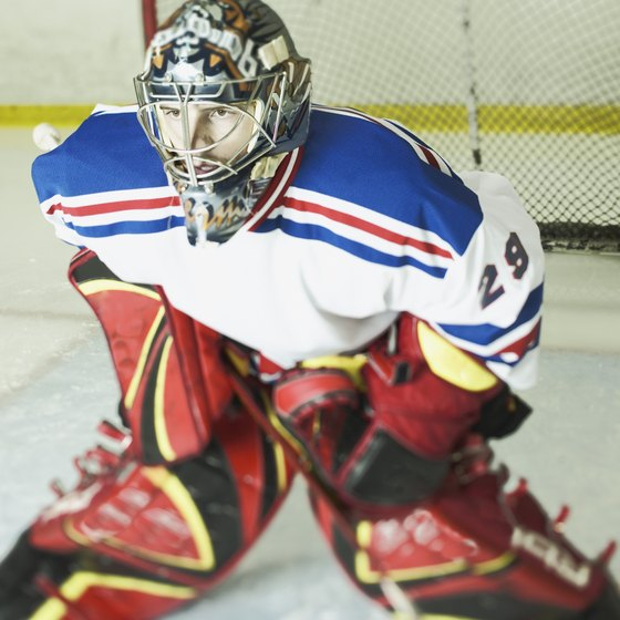 Hand-eye coordination helps a goalie react quickly to pucks.