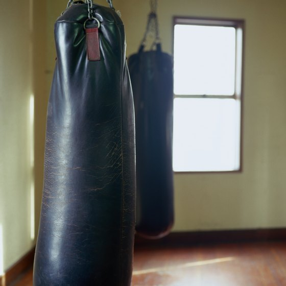 Sandbags have a tendency to settle to the bottom of the punching bag.