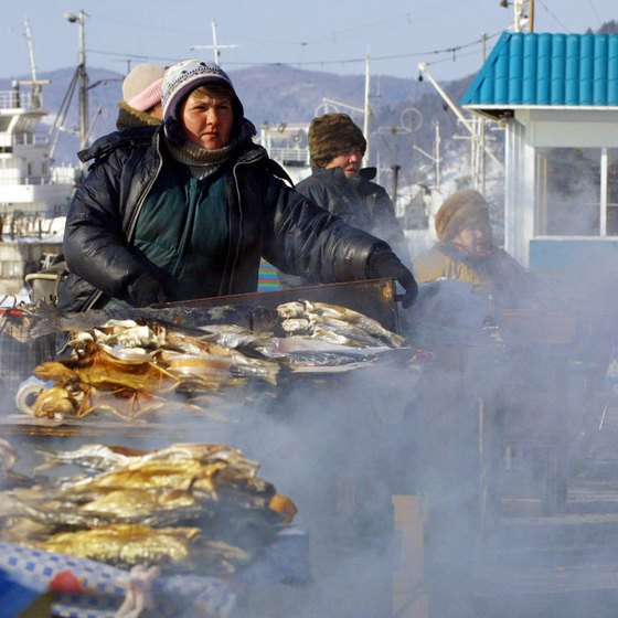 Swim and work up an appetite for some smoked fish in Listvyanka.