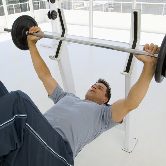 Do barbell exercises first when training your chest, back and legs.