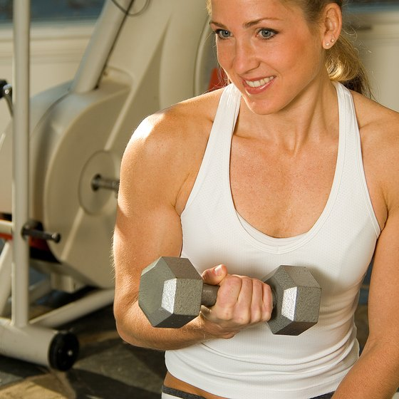 Basic exercises like the biceps curl are a great place to start lifting.