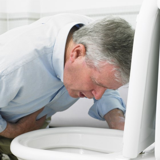 Vomiting is a common symptom of stomach flu.