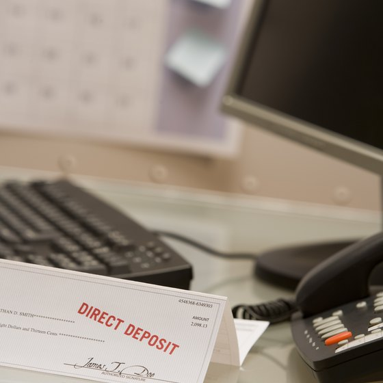Payroll checks can be created in one of several departments.