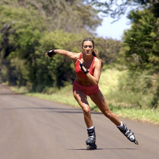 Rollerblading is a killer cardio workout that tones up your legs and butt.